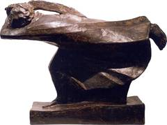 "Ernst Barlach Bronze Skulpture ""Der Raecher"" ( The Avenger ), 1914"