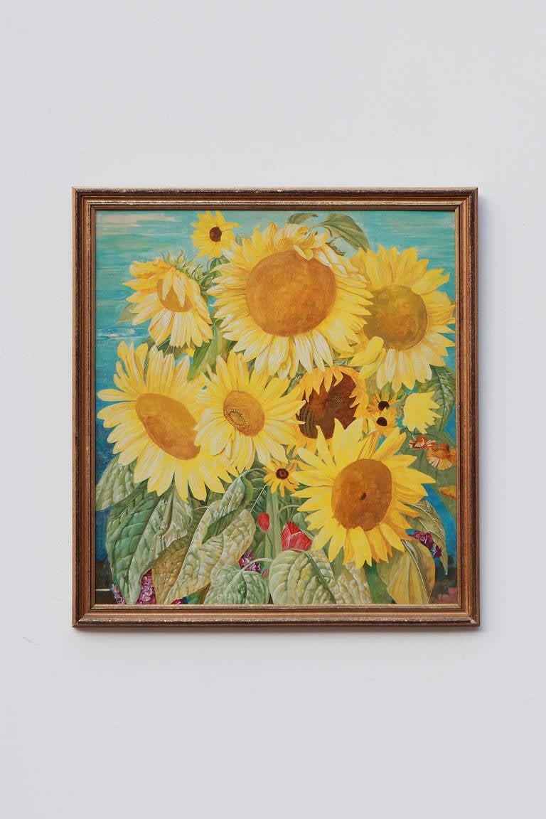 """Franz Xaver Unterseher """"Sonnenblumen"""" ( Sunflowers ), circa 1929 - Painting by Franz Xaver Unterseher"""