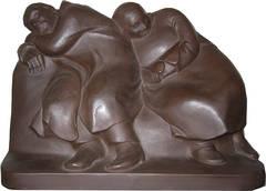 "Ernst Barlach Sculpture ""Schlaffende Vagabunden"" ( Sleeping Drifters ), 1912"