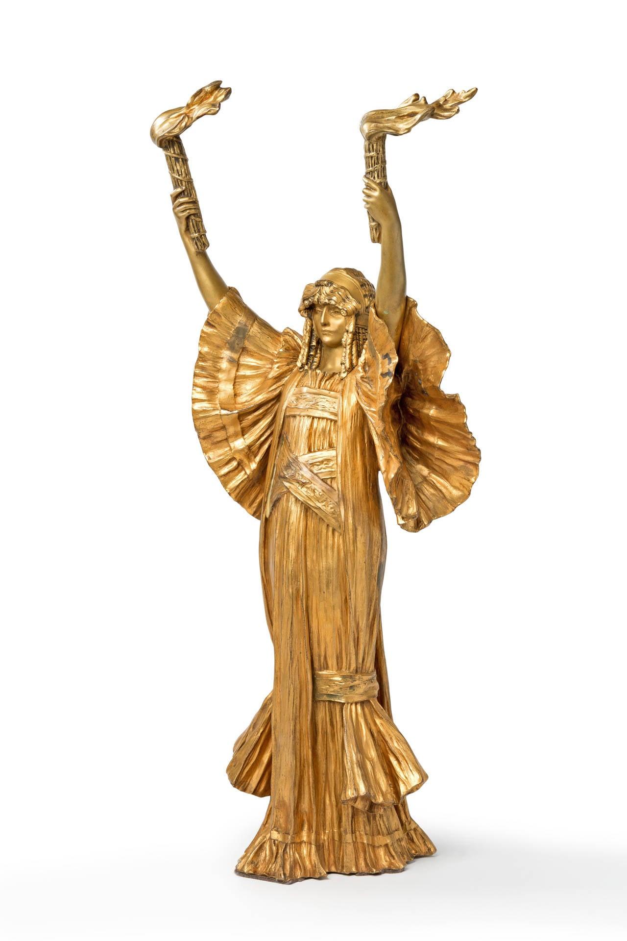 Agathon Léonard Art Nouveau Bronze
