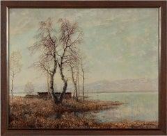 Otto Eduard Pippel Oil Paint Vorfrühling am Chiemsee. Auf der Fraueninsel