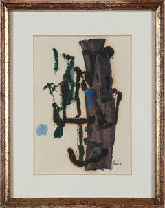 Fritz Winter Oil Paint on Paper, untitled, 1960