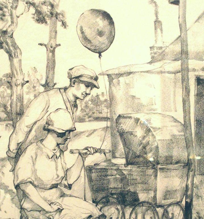 Hans Baluschek Lithograph