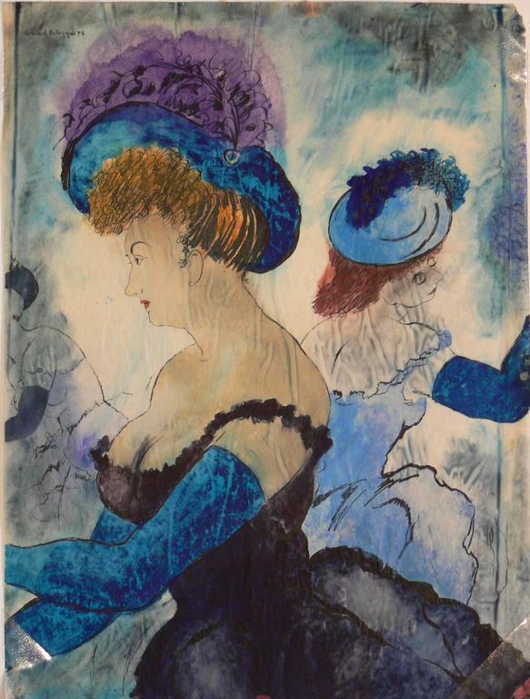 Erhard Klepper Watercolor Gouache Painting