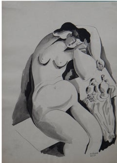 "Béla Kádár ""Weiblicher Akt"" ( Female Nudes ), Ink on Paper 1920s"
