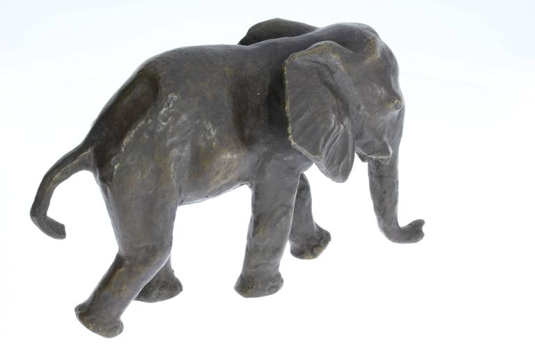 Renée Sintenis Bronze Sculpture Young Elephant, 1926 For Sale 1