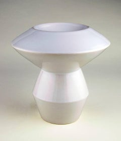 """White Geometric Bowl"""