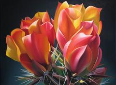 """Dyana Hesson - """"Superstition Treasure, Fire Agate Cholla Bloom"""""""