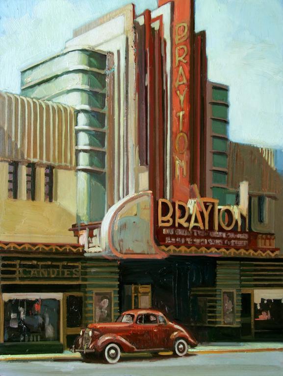 "Francis Livingston Still-Life Painting - ""Deco World"""