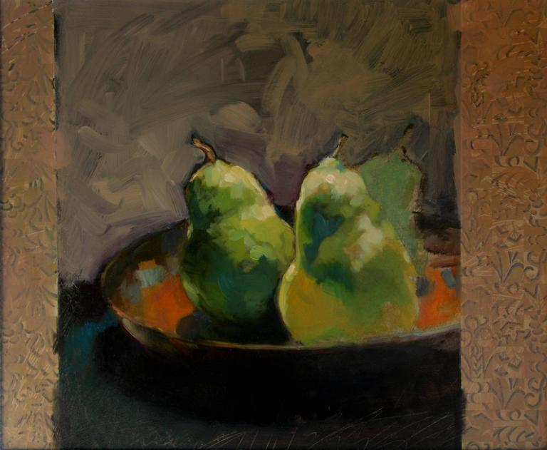 "Francis Livingston Still-Life Painting - ""Three Pears"""