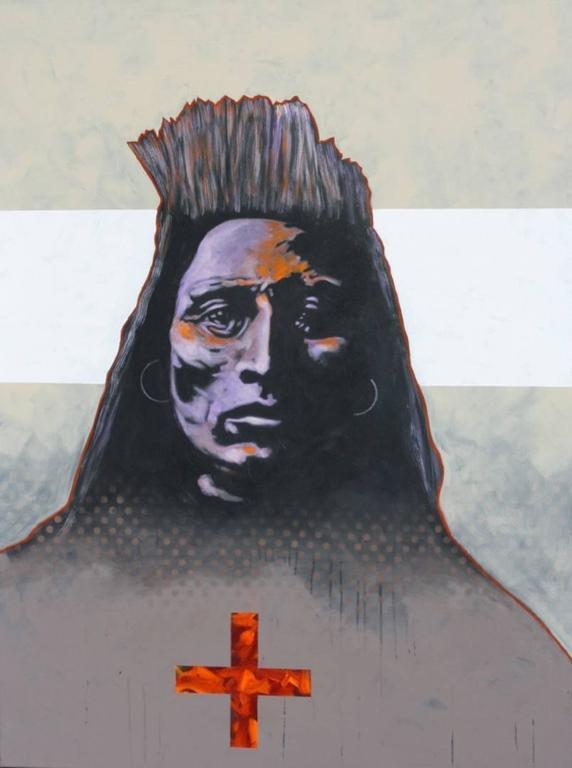 "Nocona Burgess Portrait Painting - ""Medicine Crow- Crow"""