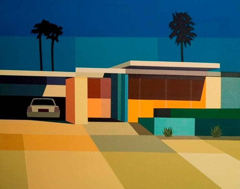 "Andy Burgess - ""Palm Springs Mid Century Modern House ... on Modern House Painting  id=55494"