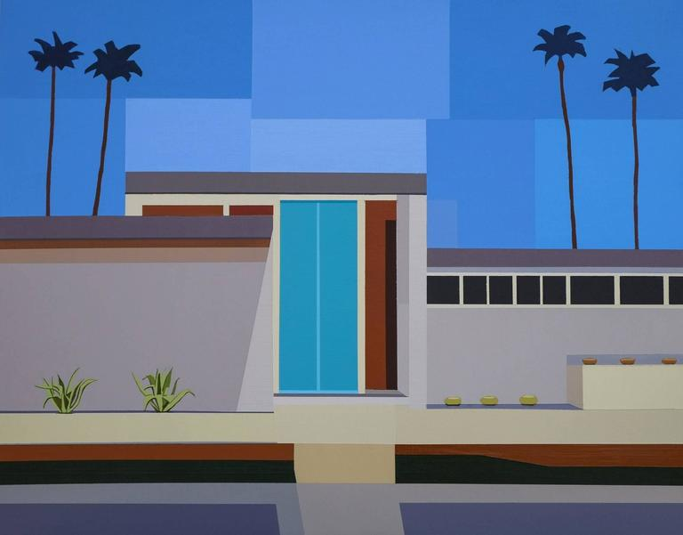 "Andy Burgess Still-Life Painting - ""Palm Springs House III"""