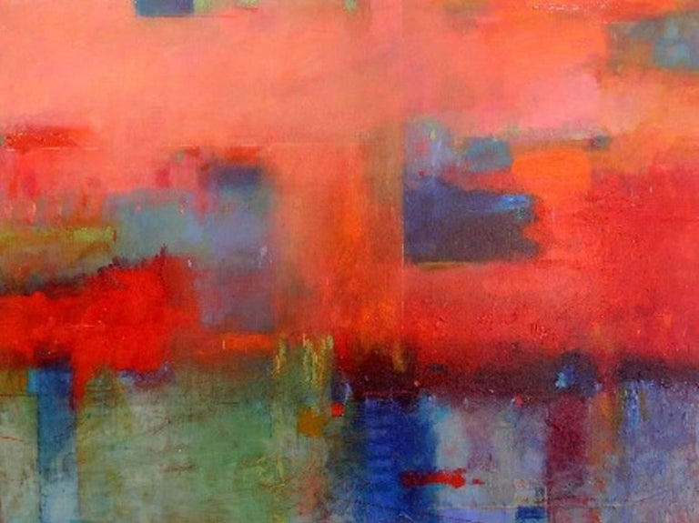 """Max Hammond Abstract Painting - """"Chasing the Hollow Sky"""""""