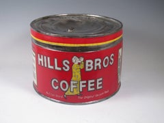 """Hills Bros. Coffee Tin"""