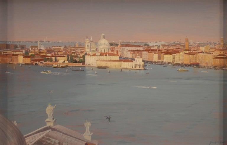 """Brad Aldridge Landscape Painting - """"Venice (view from Campanile di San Giorgio Maggiore)"""""""