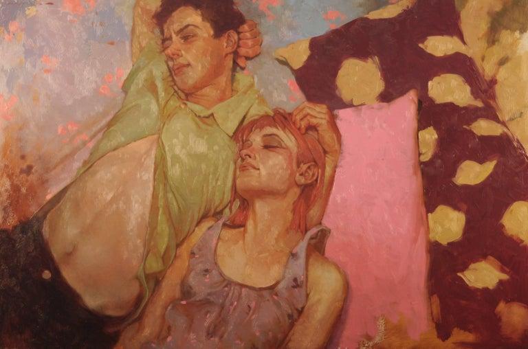 "Joseph Lorusso Figurative Painting - ""Contentment"""