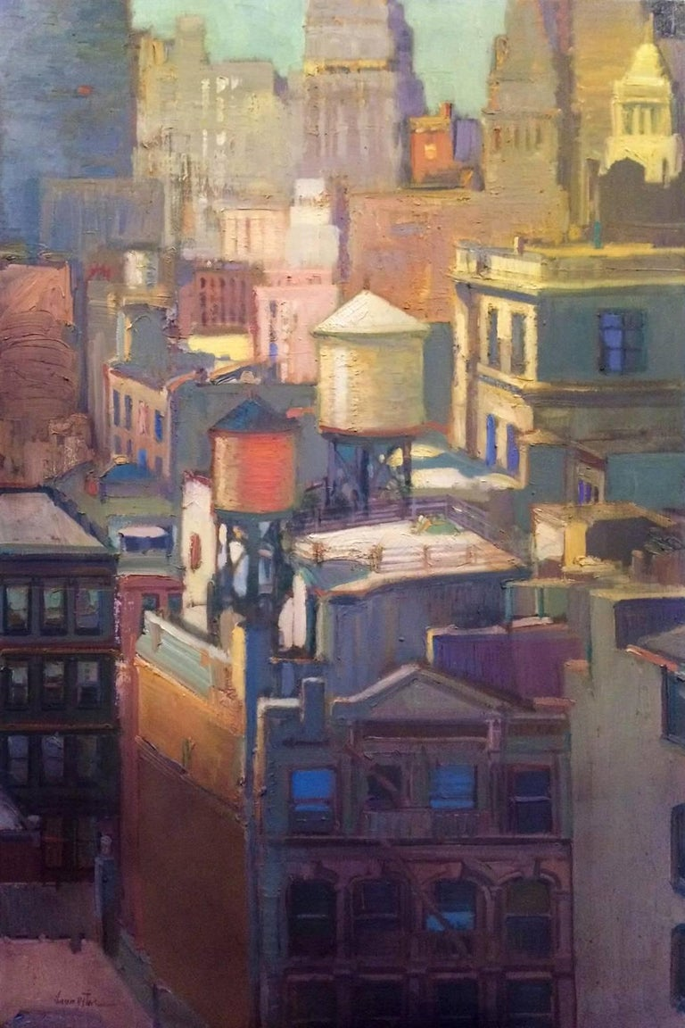 """Francis Livingston Abstract Painting - """"The Pastel City"""""""