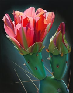 """""""Dynamic Duo Prickly Pear Bloom and Bud"""""""