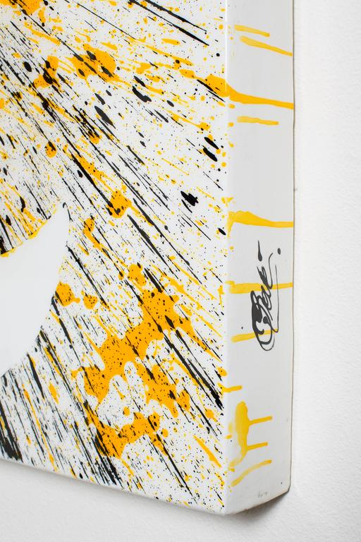 """""""YELLOW EXPOSURE II"""" - Abstract Painting by Quim Bove"""