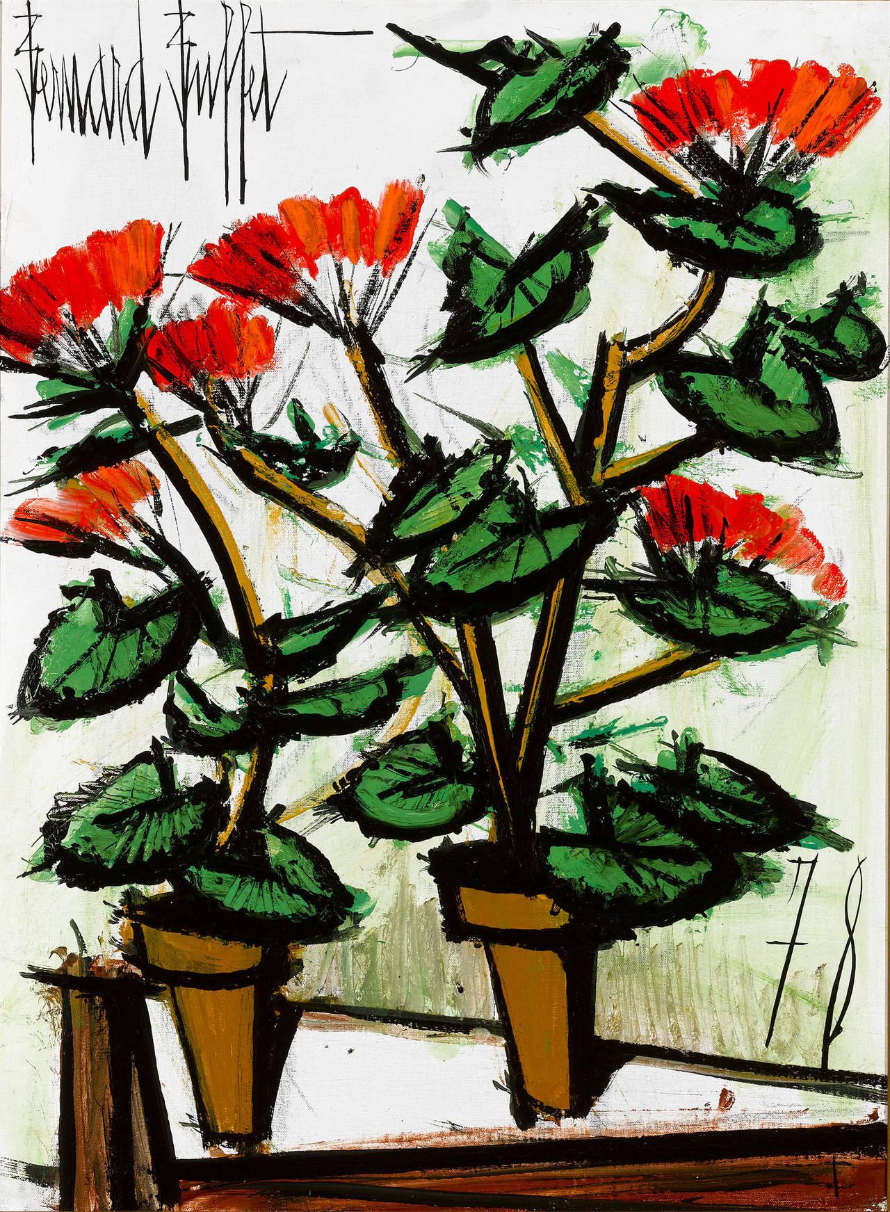 Geraniums, 1978, by Bernard Buffet