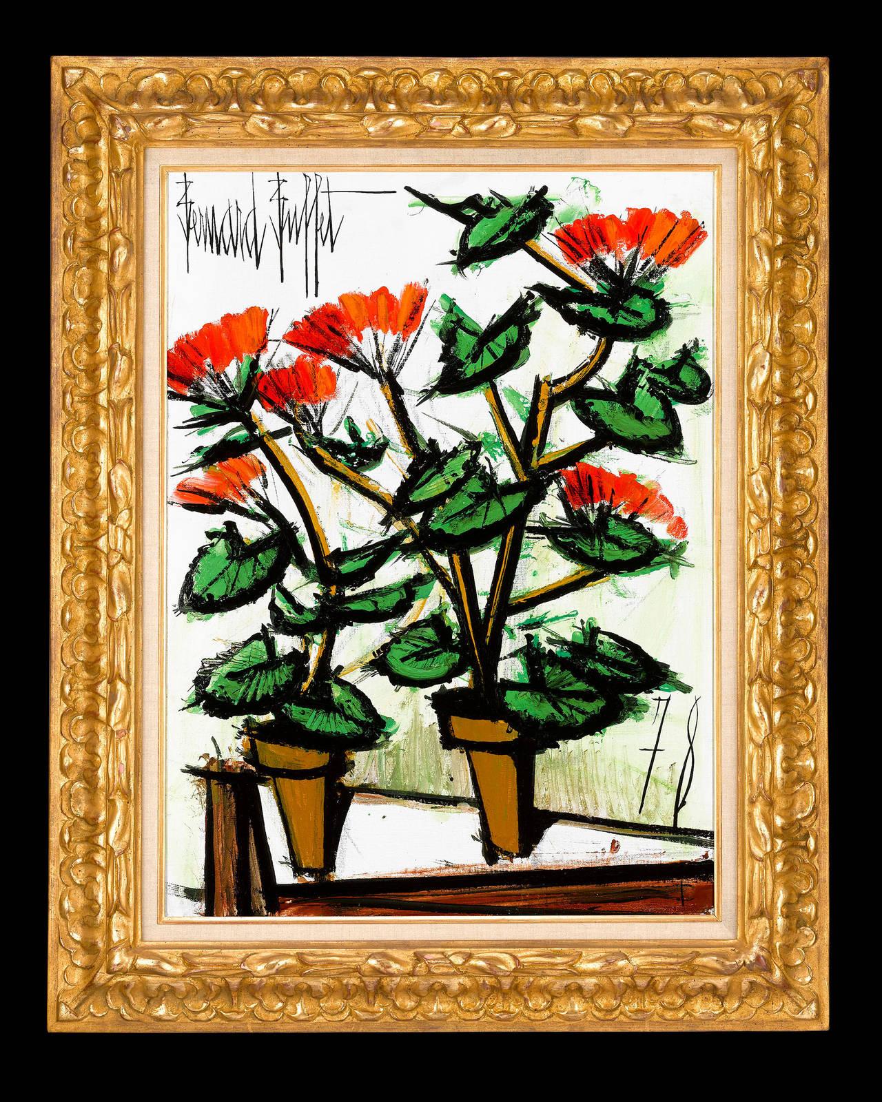 Bernard Buffet  1928-1999 • French  <em>Geraniums</em>  Signed