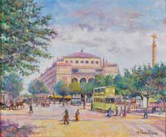 Matin Tôt Place du Chtelet by H. Claude Pissarro