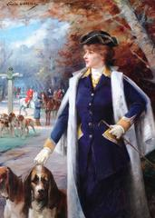 Sarah Bernhardt Hunting with Hounds by Louise Abbe