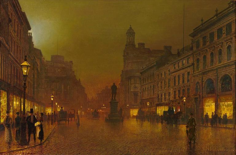 John Atkinson Grimshaw St Ann S Square Manchester By John