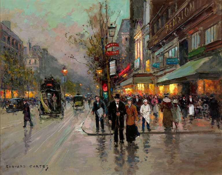 201 Douard Leon Cort 232 S Rue De La Madeline Painting At 1stdibs