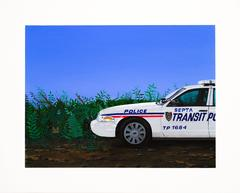 Transit Cop, acrylic and flashe painting