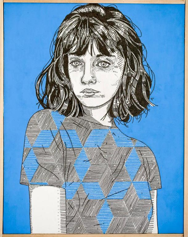 Jason Andrew Turner Portrait - she (blue)