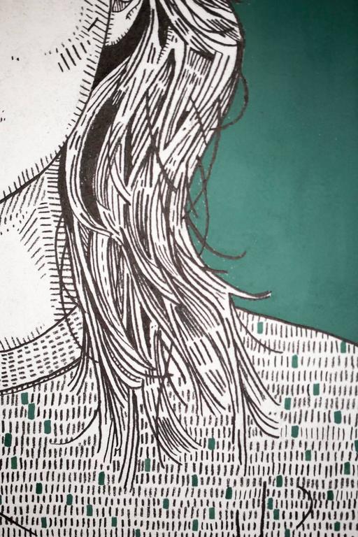 she (sage) - Beige Portrait by Jason Andrew Turner