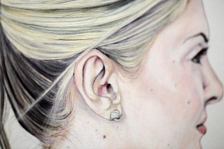 Control C - Gray Portrait by Lauren Rinaldi