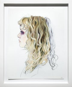 Reframe, oil pastel drawing
