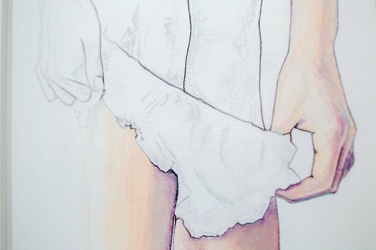 Veneer - Gray Figurative Art by Lauren Rinaldi