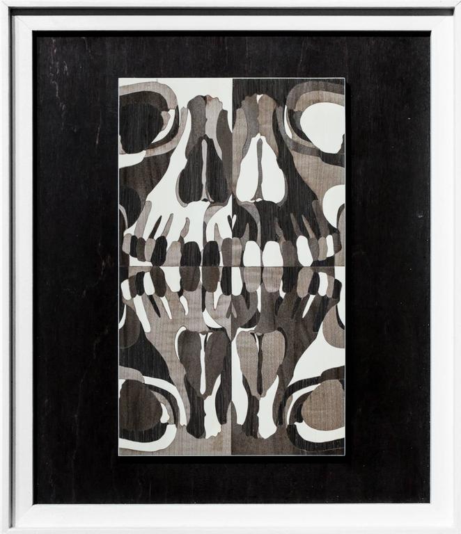 Matt R Phillips Figurative Sculpture - Human Skull