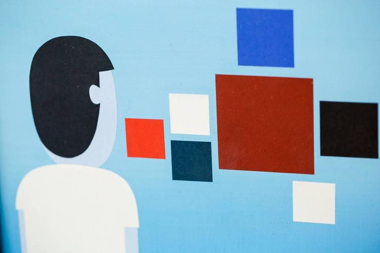 OBSERVER - Contemporary Painting by Jim Houser