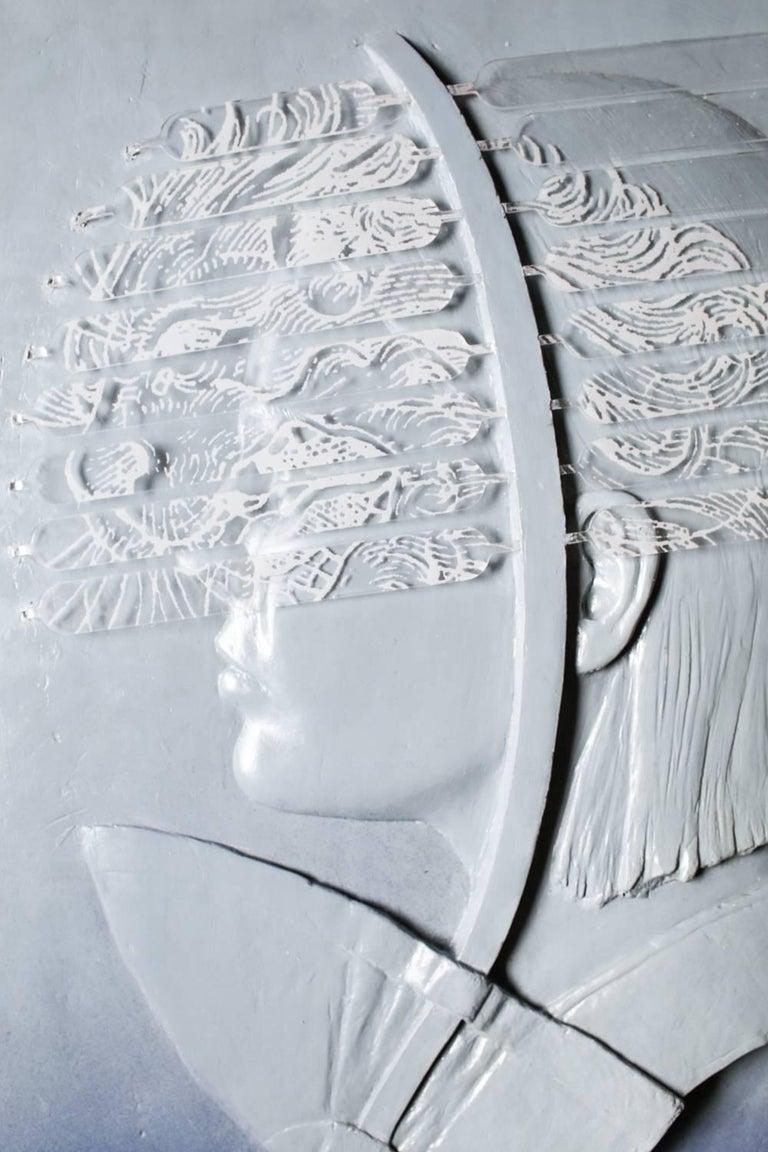 Gold Lion / Art Star - Gray Figurative Sculpture by Jedediah Morfit