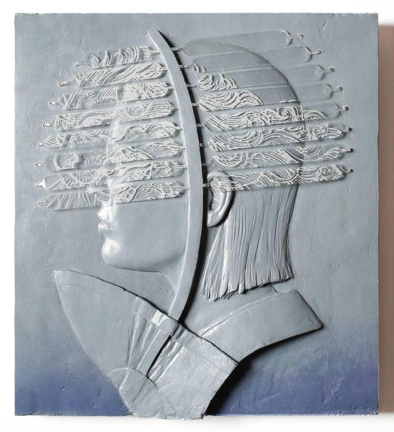 Jedediah Morfit Figurative Sculpture - Gold Lion / Art Star