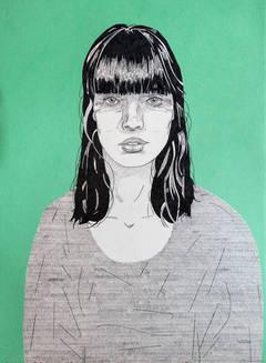She (green)