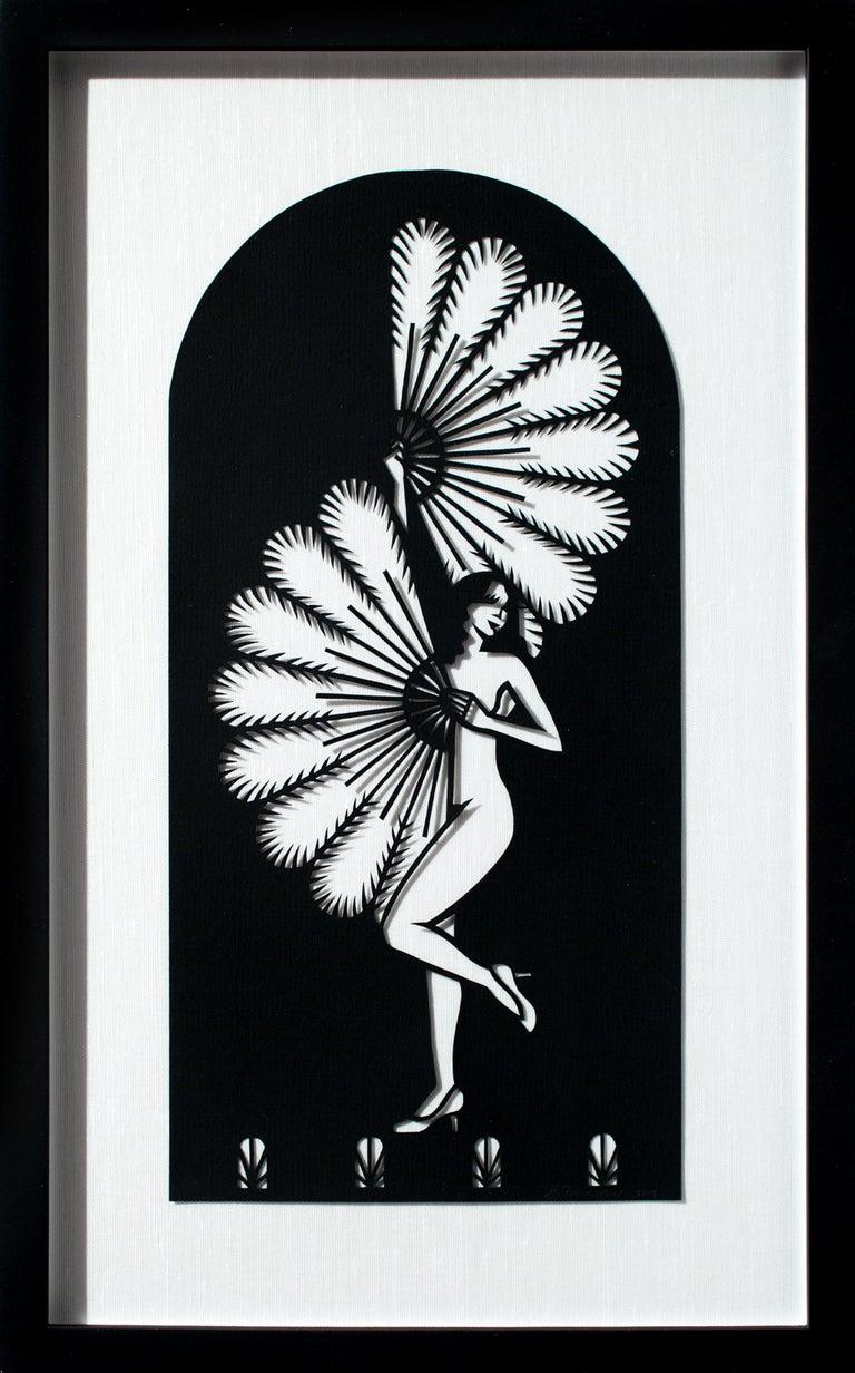 Fan Dancer - Mixed Media Art by Joe Boruchow