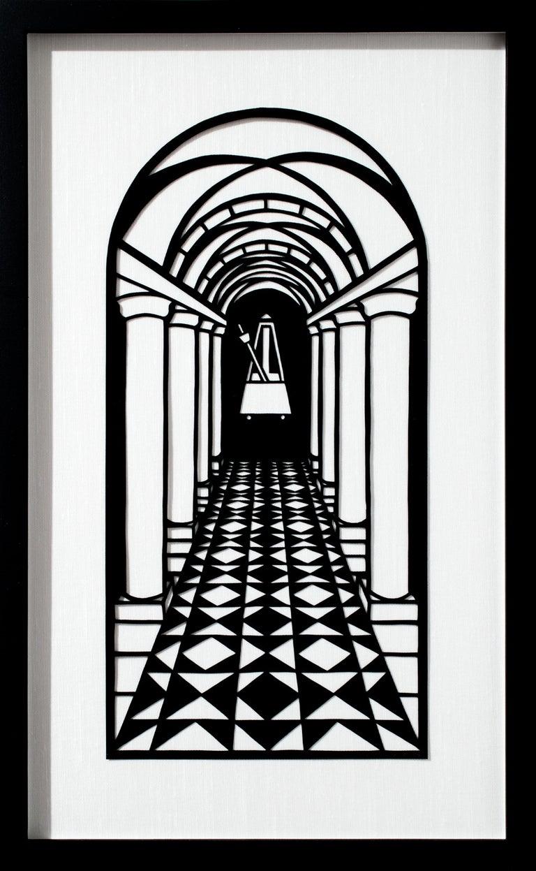 Metronome - Mixed Media Art by Joe Boruchow