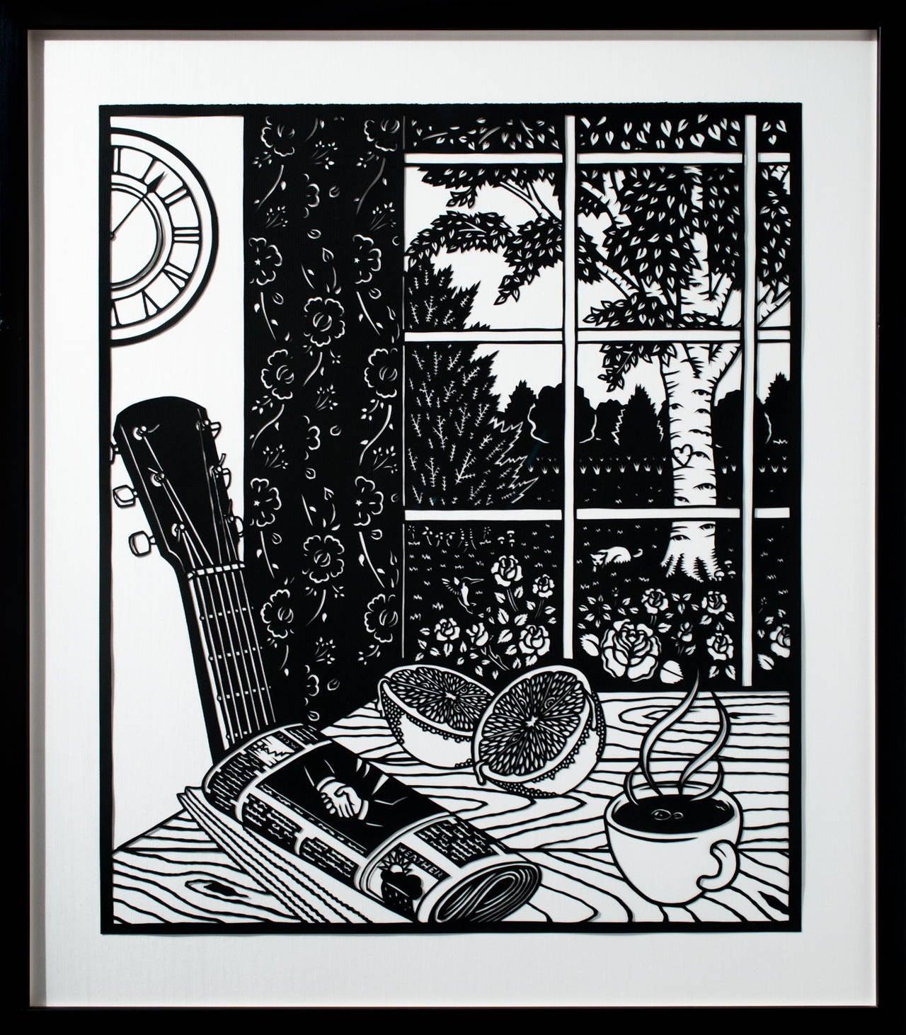American artist Joe Boruchow's hand-cut paper series,