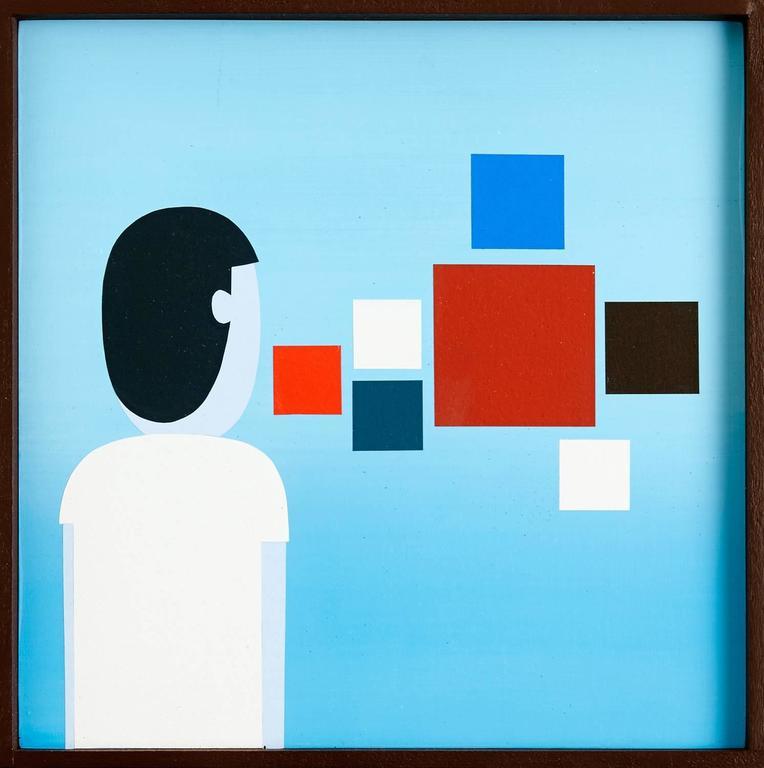 Jim Houser Figurative Painting - OBSERVER
