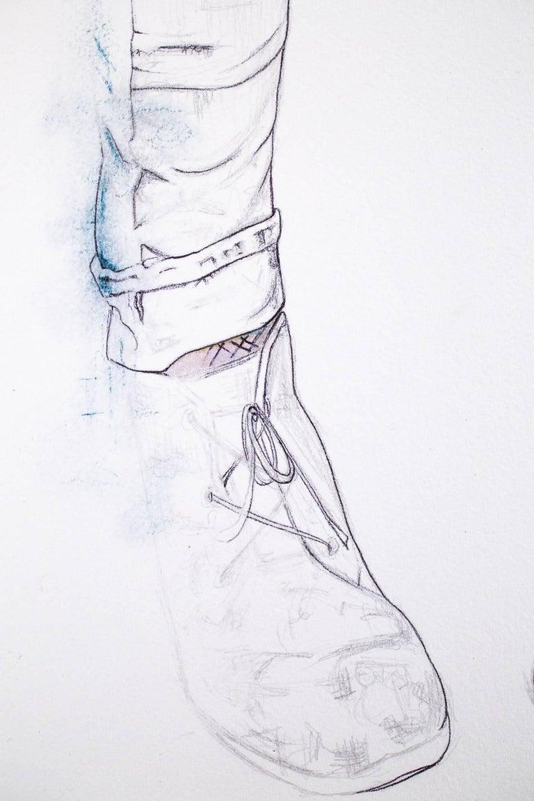 Faded - Gray Figurative Art by Lauren Rinaldi
