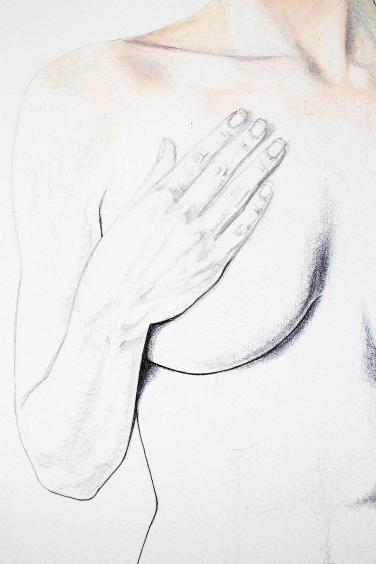 Exposé - Gray Figurative Art by Lauren Rinaldi