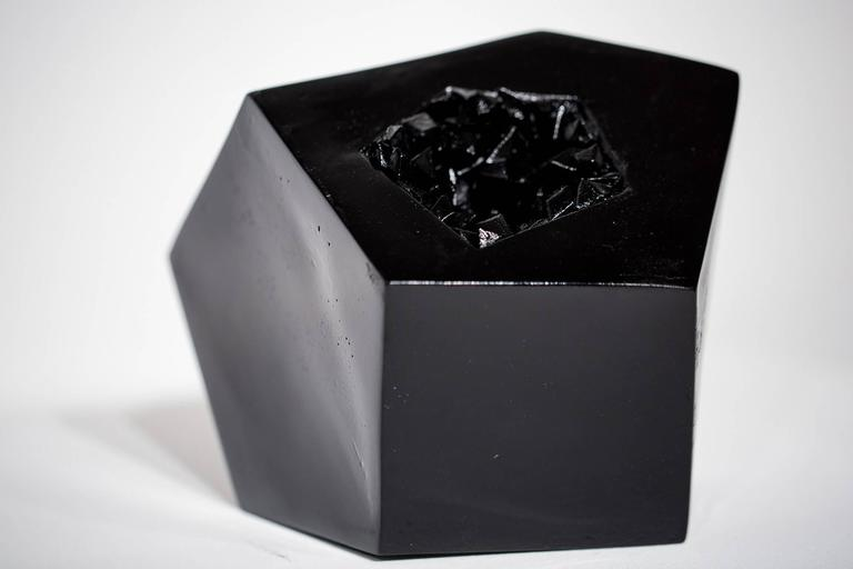 Obsidian Geode - Sculpture by Paige Smith (A Common Name)