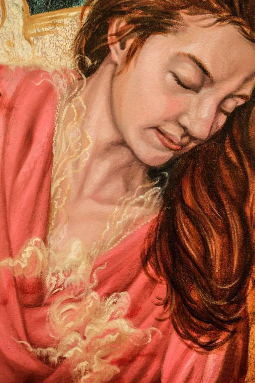 Heroine (Intercessor) - Black Portrait Painting by Paul Romano
