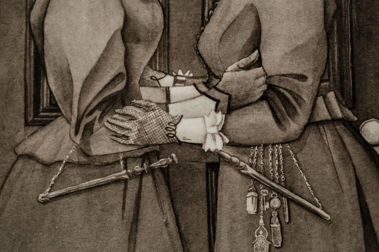 Till the Morrow - Brown Portrait by Robert Kraiza